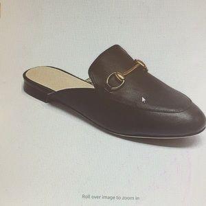 Never worn LaRosa leather oxford slip on